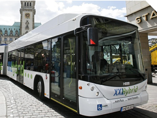 A bus using ultracapacitor tech from Maxwell, image courtesy of Maxwell.